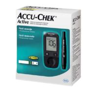 Kit Accu-Chek Active medidor + lancetador + tiras com 10 unidades