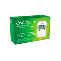 Kit One Touch Select Simple com monitor, lancetador, 10 tiras reagentes