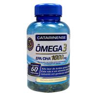 Ômega 3 Catarinense 1000mg, frasco com 60 cápsulas