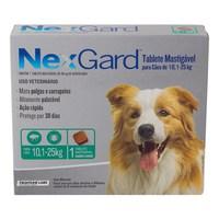 NexGard 10,1Kg a 25Kg, caixa com 1 tablete mastigável