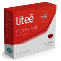 Óleo de Krill Liteé 500mg, caixa com 60 cápsulas