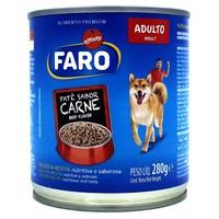 Ração para Cães Faro Patê adulto, carne, lata com 280g