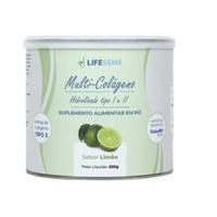 Colágeno Tipo I e II Lifesens frasco com 250g de pó para solução de uso oral, sabor limão