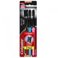 Escova Dental Colgate Slim Soft suave, black, 3 unidades