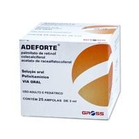 caixa com 25 ampolas com 3mL de solução de uso oral