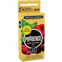Preservativo Prudence Cores e Sabores mix com 12 unidades