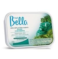 Cera Depilatória Corporal Depil Bella algas com menta, barra, 250g