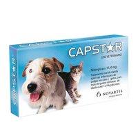 Antipulgas Capstar 11,4mg, para Cães e Gatos até 11,4kg, 1 comprimido