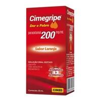 Cimegripe Dor e Febre 200mg/mL, caixa com frasco conta-gotas com 15mL de solução de uso oral
