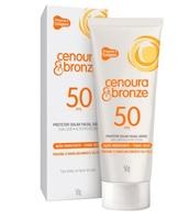 Protetor Solar Facial Cenoura & Bronze FPS 50 com 50g