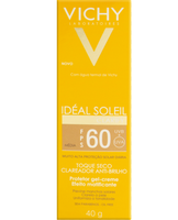 Protetor Solar Vichy Ideal Soleil Clarify médio, FPS 60 com 40g