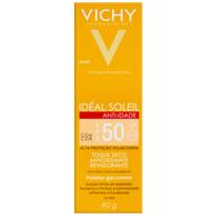 Protetor Solar Vichy Idéal Soleil Anti-idade FPS 50, com cor, 40g