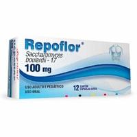 Repoflor 100mg, caixa com 12 cápsulas gelatinosas duras