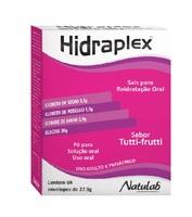 Hidraplex 4 envelopes com 27,9g de pó para solução de uso oral, sabor tutti-frutti