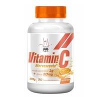 Vitamina C + Zinco Health Labs laranja, frasco com 30 comprimidos efervescentes
