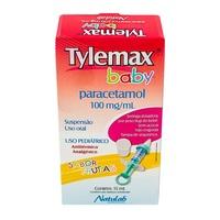 Tylemax Baby e Criança 100mg/mL, caixa com 1 frasco com 15mL de suspensão de uso oral + seringa dosadora