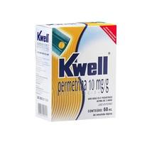 Kwell 10mg/g, caixa com 1 frasco com 60mL de emulsão de uso capilar