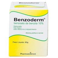 Benzoderm 6g/g, caixa com 60g de sabonete