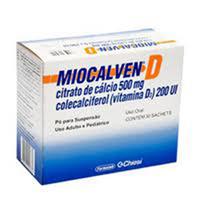 Miocalven D 2370mg + 200UI, caixa com 30 sachês com 4g de pó para suspensão de uso oral