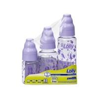 Kit Mamadeira Lolly Tip 240mL + 150mL + 80mL, lilás
