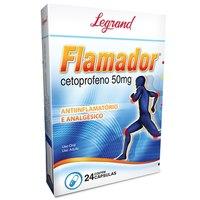 Flamador 50mg, caixa com 24 cápsulas gelatinosas duras