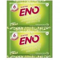 Sal de Frutas Eno 2 envelopes com 5g de pó efervescente de uso oral, limão