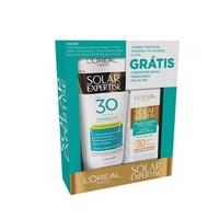 - FPS 30 com 200mL + protetor facial, Expertise toque seco, FPS 30 com 25g, grátis