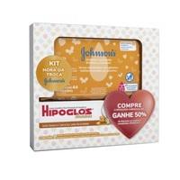 Kit Johnson & Johnson Preventivo Contra Assaduras Hipoglós, amêndoas, 80g + lenço umedecido limpeza e suavidade, 44 unidades com 50% de desconto