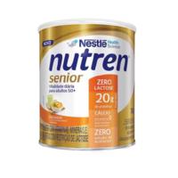 Suplemento Alimentar Nutren Senior Zero Lactose sem sabor, lata, 1 unidade com 740g