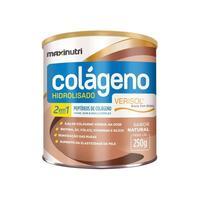Colágeno Hidrolisado 2 em 1 Maxinutri frasco com 250g de pó para solução de uso oral, sabor natural
