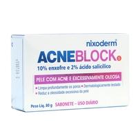 Sabonete Nixoderm AcneBlock Pele com Acne e Excessivamente Oleosa Barra, 80g
