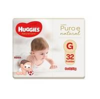 Fralda Huggies Natural Care G, pacote com 32 unidades