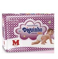 Fralda Diguinho Plus M, pacote com 32 unidades