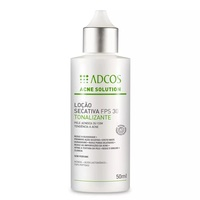 Loção Secativa Tonalizante Adcos Acne Solution FPS 30 com 50mL