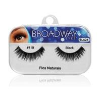 Cílios Postiços Kiss New York Broadway Eyes fios naturais, 1 par, ref.119