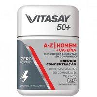 Vitasay 50+ Homem A-Z + Cafeína frasco com 30 comprimidos