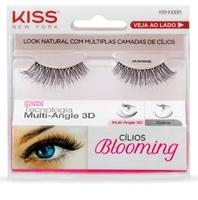 Cílios Postiços Kiss New York Lash Blooming jasmine, 1 par, ref.KBH06BR