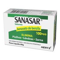 Sanasar Sabonete 0,10g/g, caixa com 80g de sabonete