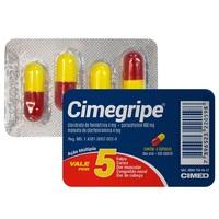 Cimegripe 400mg + 4mg + 4mg, caixa com 4 cápsulas gelatinosas duras