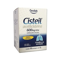 Cisteil 600mg/g, caixa com 16 envelopes com 5g de granulado para solução de uso oral