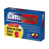 Cimegripe 400mg + 4mg + 4mg, caixa com 20 cápsulas gelatinosas duras