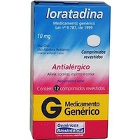 Loratadina Comprimido Biosintética 10mg, caixa com 12 comprimidos revestidos