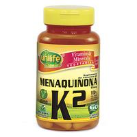 Vitamina K2 Menaquinona Unilife frasco com 60 cápsulas