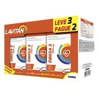 Lavitan Ômega 3 1000mg, caixa com 60 cápsulas, leve 3 pague 2