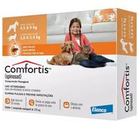 750mg, cães de 4,5 a 9Kg + gatos de 2,8 a 5,4Kg, caixa com 1 comprimido mastigável