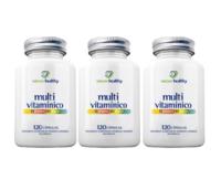 Multivitamínico Nature Healthy frasco, 3 unidades com 120 cápsulas cada