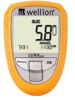 Medidor de Colesterol e Glicose Wellion Luna Duo 1 unidade, amarelo