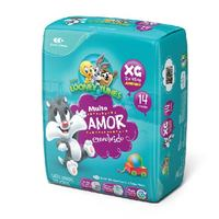 Fralda Baby Looney Tunes XG, pacote com 14 unidades