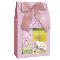 Kit Cheirinho de Bebê rosa, colônia, 210mL + sabonete de glicerina, líquido, 250mL