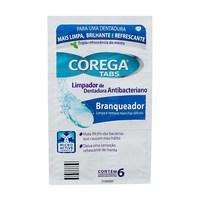 Corega Tabs Limpador de Dentadura Antibacterniano Branqueador